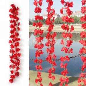 FLEUR ARTIFICIELLE Fleurs artificielles Lierre Vigne Faux Feuille Feu