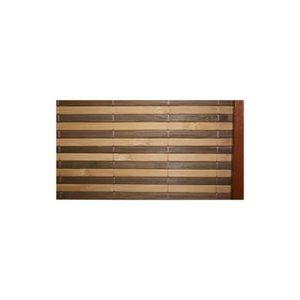 PARAVENT Paravent 3 panneaux marron en bois et bambou 132x1