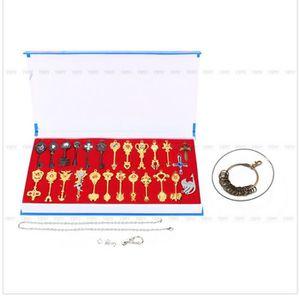 PORTE-CLÉS 24pcs Fairy Tail métal porte-clés pendentifs Fairy