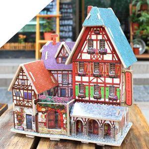 PUZZLE Puzzle en Bois 3D Jeux Créatif Hôtel 33 Pieces