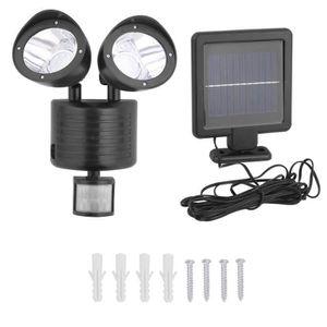 LAMPE DE JARDIN   22 LED Lampe Solaire Extérieur Lampe Murale Noir