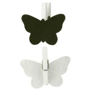 ARDOISE ENFANT Pinces ardoise papillon blanc 4,2 x 2 cm x 6 pcs -