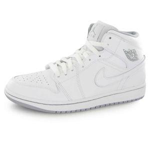 b615811684259d BASKET Nike Air Jordan 1 Mid Blanc
