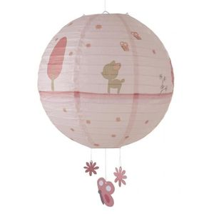 ABAT-JOUR DOMIVA Lanterne Papier Fany Rose