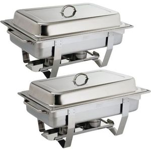 CHAUFFE-PLAT ELECTRIQUE Lot de 2 chafing dish Milan 9 Litres Olympia GN1/1