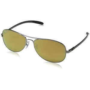 LUNETTES DE SOLEIL Ray-ban Mirrored Aviator Sunglasses (0rb8301004-k6