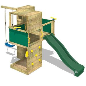STATION DE JEUX Aire de jeux WICKEY Smart Cube Portique en bois To