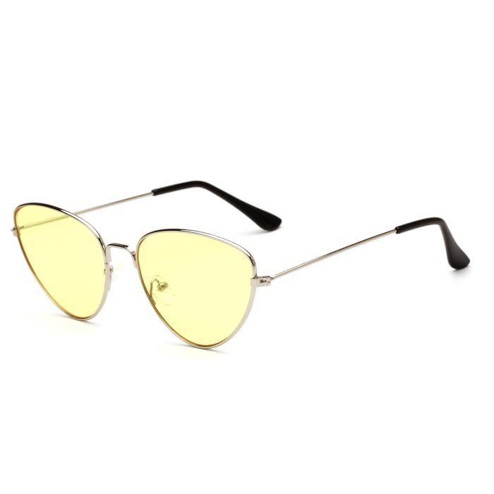 Metal New Eye Cat pour Trend Lunettes Sunglasses Sunglasses femmes soleil de HwaTwBq