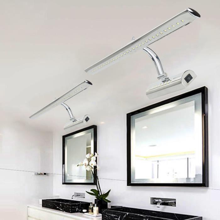 Pour D'acier Lampe Bain Inoxydable Applique Lumière Laduu Miroir Mural Blanc Salle De Mur Led Ampoule 7w Tableau 36 TOPZkiXu