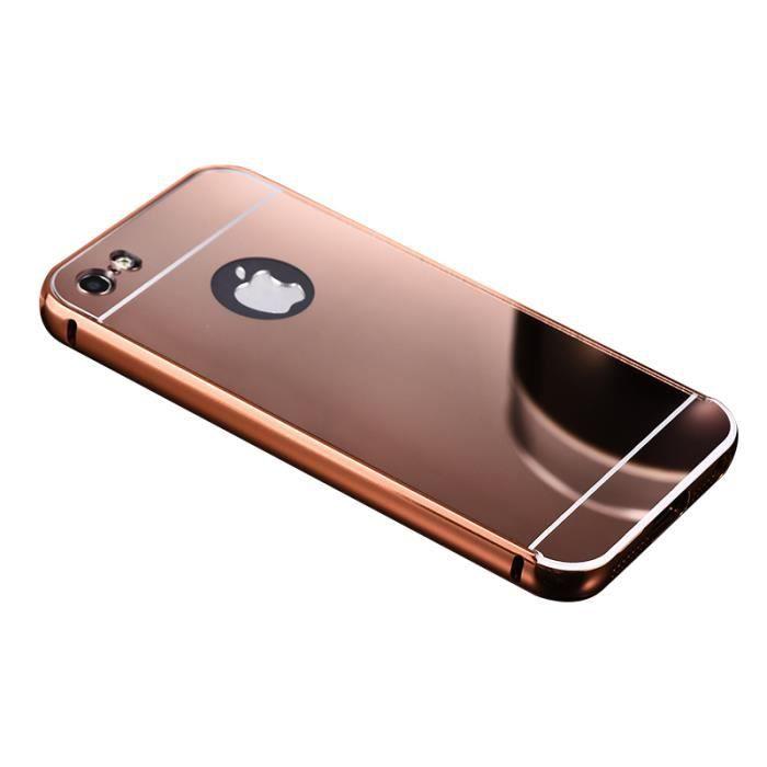 Detachables Aluminium Miroir Effet Coque Pour Iphone 5 5s Se Rose D