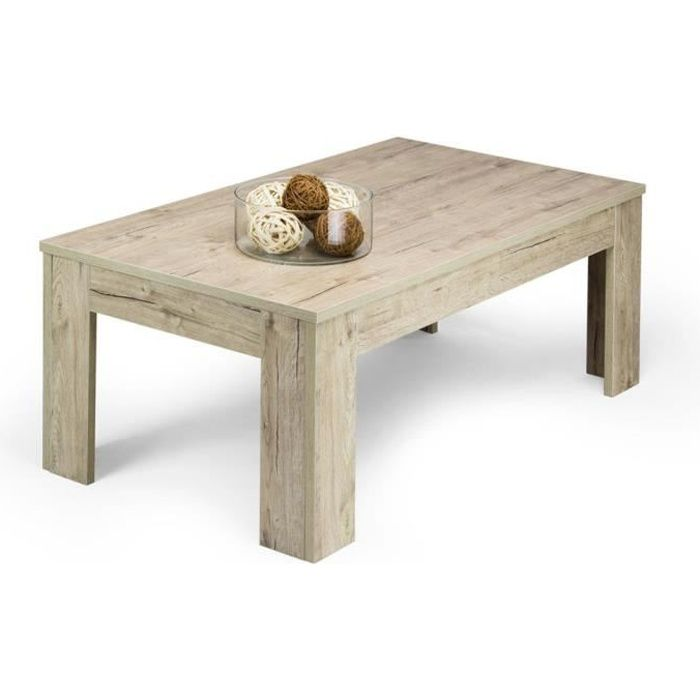 Mobilifiver Table Basse Easy Chene Naturel 100 X 55 X 40 Cm Melamine Made In Italy