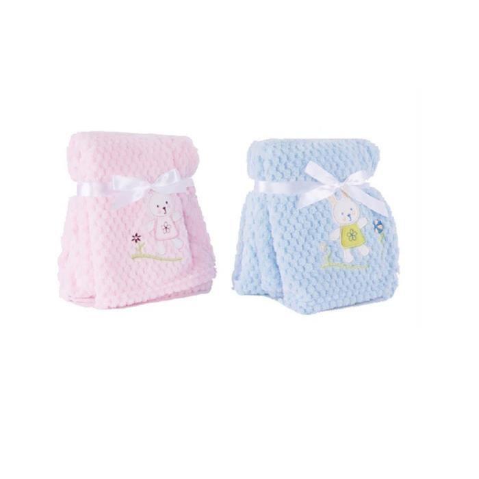 couverture bébé polyester Couverture pour bébé polyester (75x100) (Rose)   Achat / Vente  couverture bébé polyester