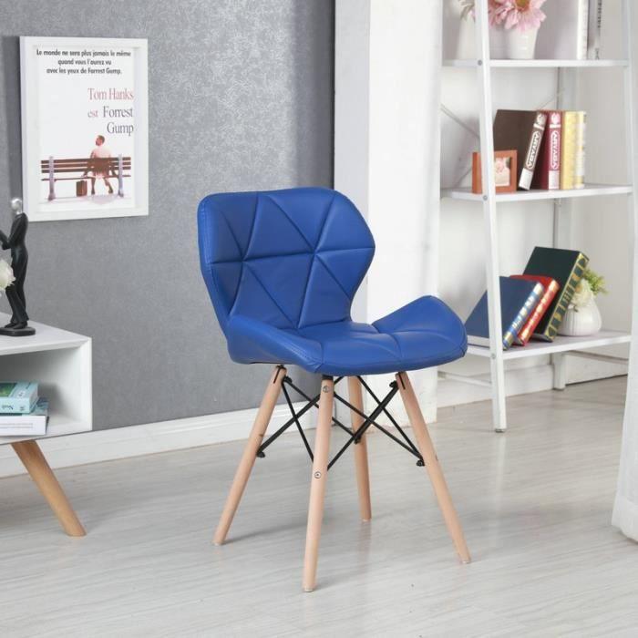 Bleu Fonce Chaises Fauteuil Scandinave Nordique Moderne Design