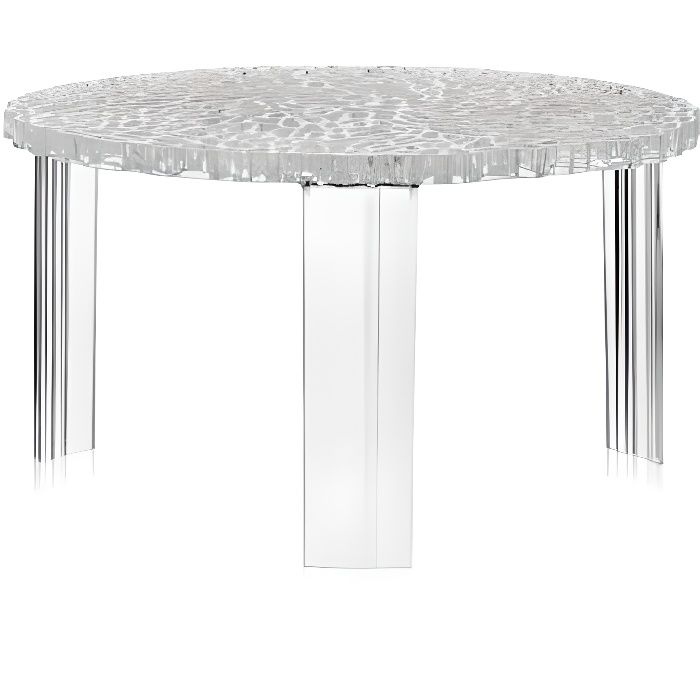 kartell t-table table d'appoint- cristal - achat / vente table