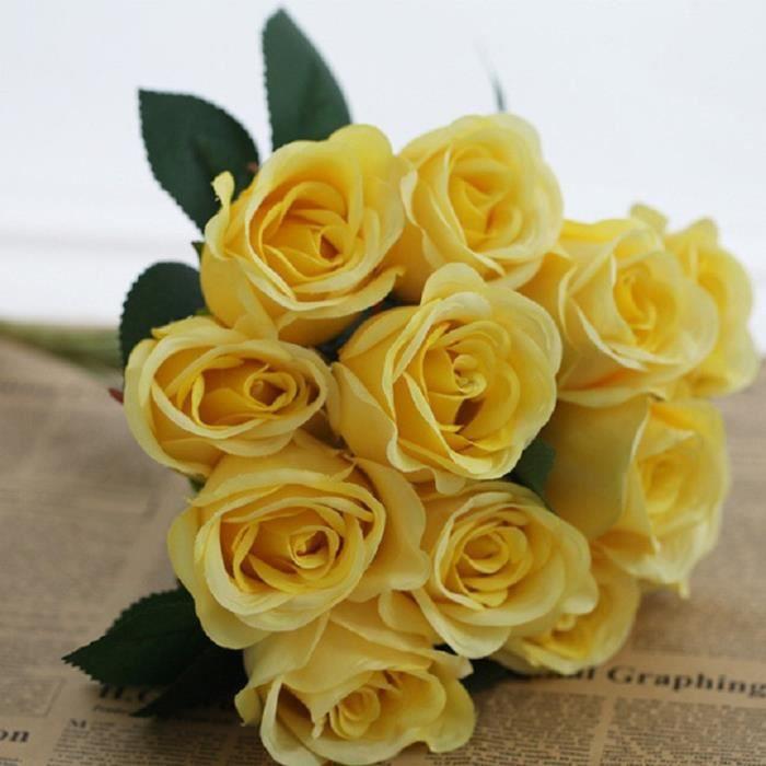 Soie Artificielle Faux Fleurs Roses Fleurs Bouquet De Artificielles