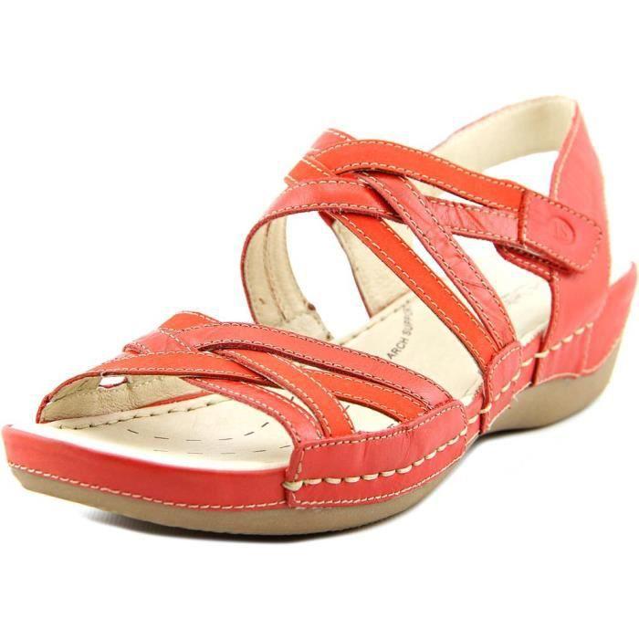 Josef Seibel Nora 05 Cuir Sandales Rouge - Achat   Vente sandale ... bb4fdb6502ff