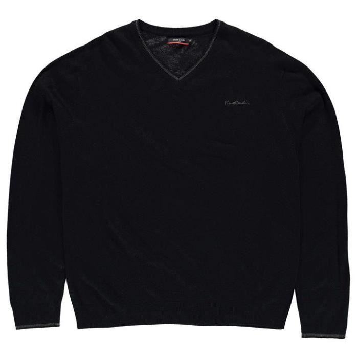 PIERRE CARDIN Pull Grande Taille Homme Noir - Achat   Vente pull ... fdcdf2daf1c3