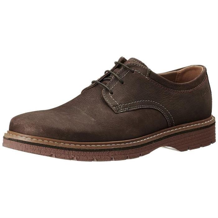 Clarks Chaussures Homme Marron Lacets Plain Newkirk A 3R4AjL5