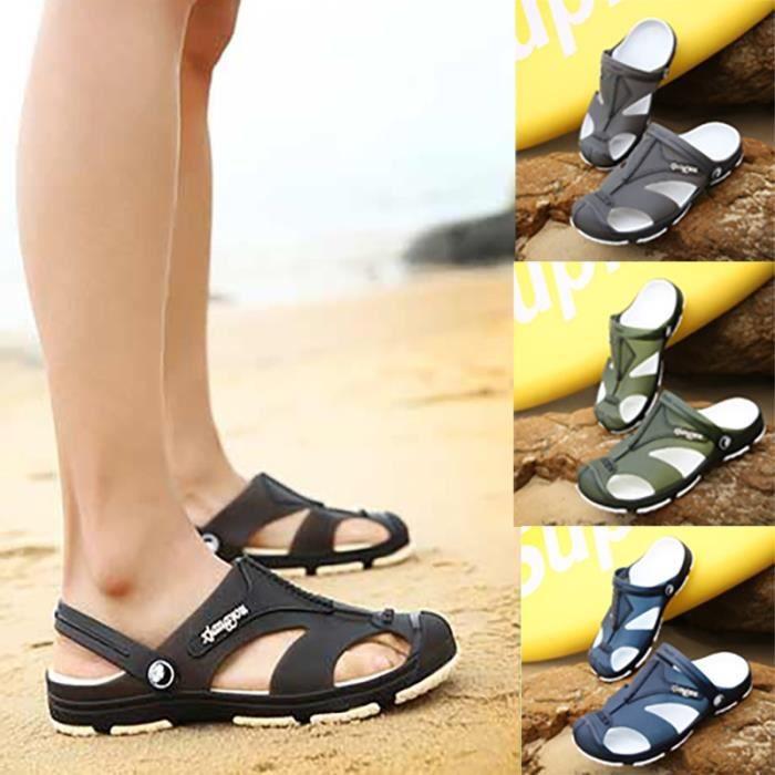 Mode d'été Chaussures loafer imperméable Sandal Chaussures hommes