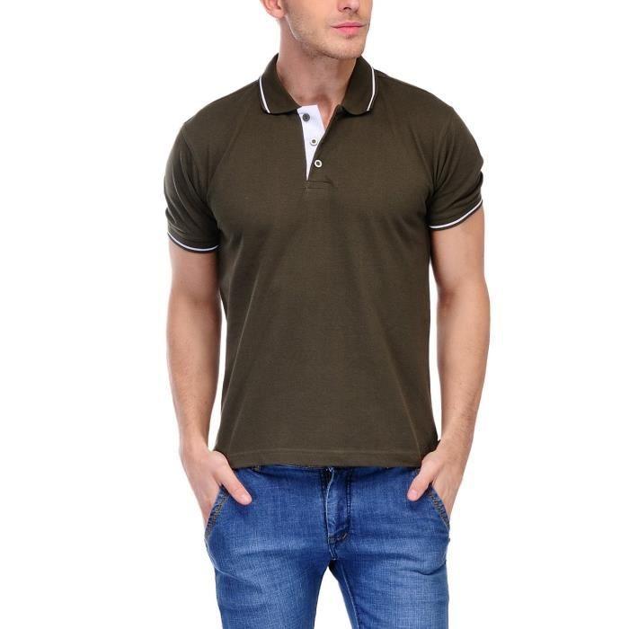 T-shirt des hommes de Scott haut de gamme coton Polo - vert ... 5423b8c6846c