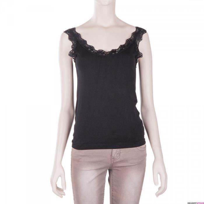 91433e87be2f0 Débardeur noir dentelle femme Rodier - Couleur - NOIR, Taille Vêtement - 42