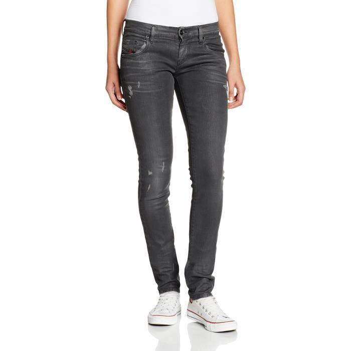 Diesel Pantalons pour femmes 3OEHVU Taille-29 Noir Noir - Achat ... 0a943a1fb62a