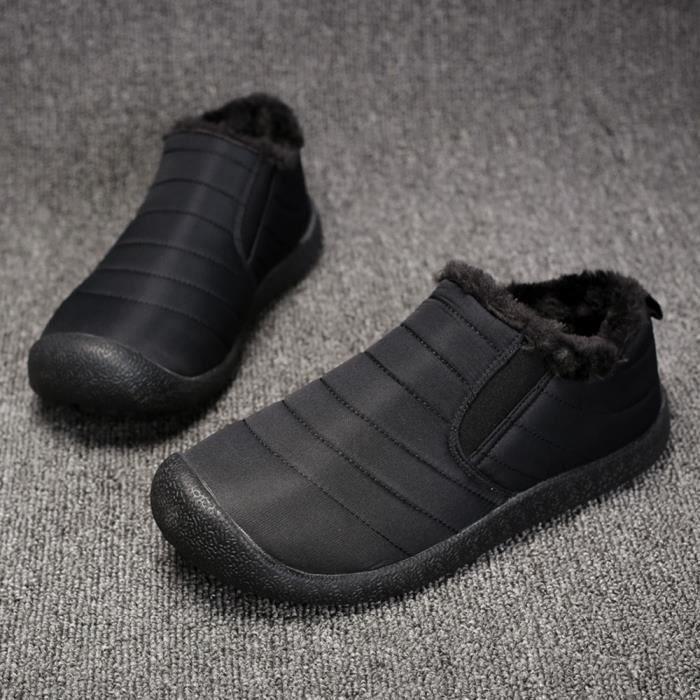 En Chaussures Wll656 chaussures Bottes Résistant L'usure Peluche Conforpo Coton D'hiver Neige À D'homme Courte 1qnRU