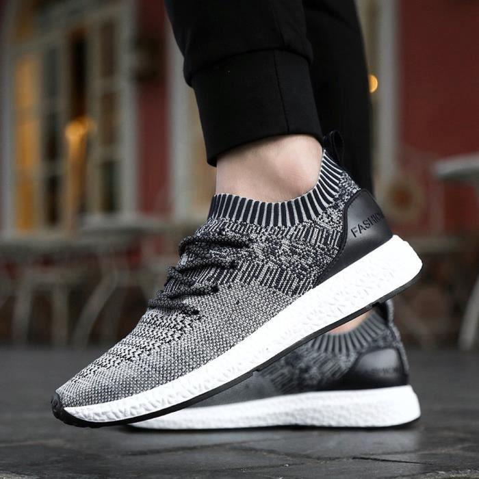 Seasondu Chaussures Mode Pour Flats Hommes Respirante Spring Casual Lacets Lumière Shoes À rpqOra