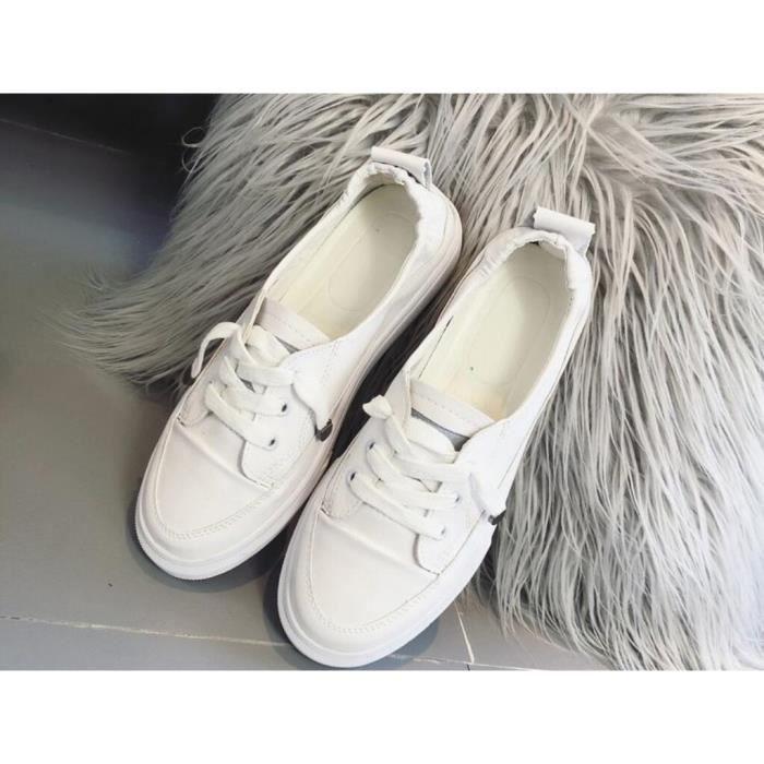 prix de détail nouveau sélection les mieux notés 2019 été nouvelles petites chaussures blanches chaussures décontractées  pour femmes bas pour aider avec des chaussures plates chauss
