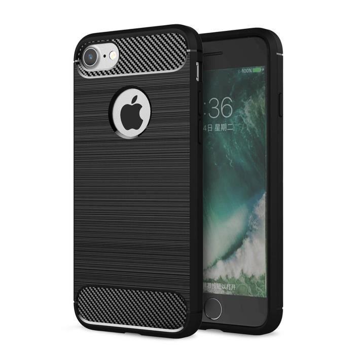 coque iphone 8 noir carbone