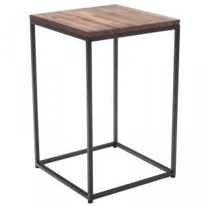 """paris prix - table d'appoint design """"edena"""" 65cm marron - achat"""