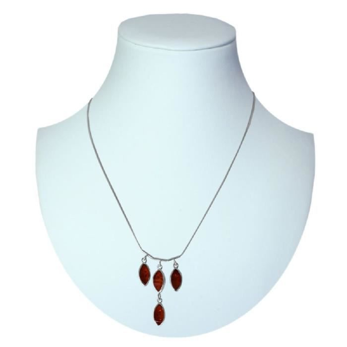 In Collections - 0540290010980 - Collier Femme - Argent 925-1000 - Ambre WRN4K