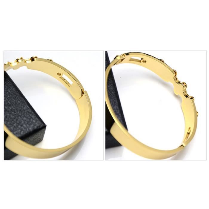Bracelet collant de diamant Fleurs Femme élégant Bracelet 18k or doré