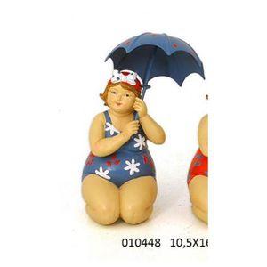 STATUETTE RETRO 11x10,5x30,5 cm BAIGNEUR APOLLON BLEU 16312