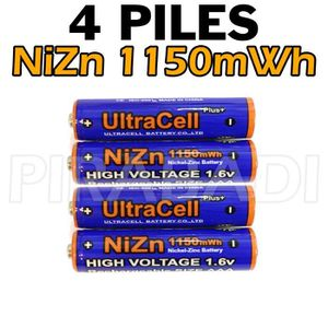 PILES 4 ACCUS AAA LR03 PILES RECHARGEABLE 1.6V NI-ZN 115