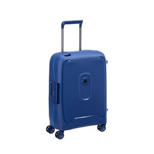 VALISE - BAGAGE Valise cabine slim Bleu 4 roues doubles 55 cm -col