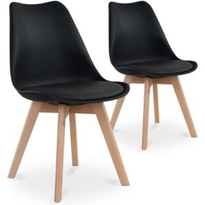 Chaise scandinave noire achat vente chaise scandinave for Chaise en bois noir pas cher