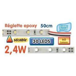 AMPOULE - LED Réglette LED époxy 50 cm 2W4 12V blanc froid