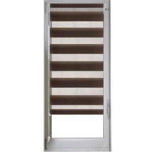 STORE DE FENÊTRE Store enrouleur jour/nuit Chocolat 52 x 170 cm