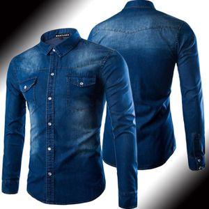 chemise en jean homme achat vente pas cher. Black Bedroom Furniture Sets. Home Design Ideas