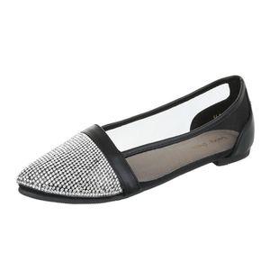 BALLERINE femme ballerine chaussure flâneurs mocassin Glisse. femme  ballerine chaussure flâneurs mocassin Glisser sur Strass occupé escarpin  noir 1bc58ca9a912