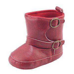 Enfant nouveau-né bébé garçon fille berceau bowknot bottes prémarcher chaud Martin chaussures Rose vif 9RYaUY5n