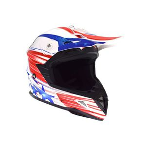CASQUE MOTO SCOOTER Casque Cross Enfant ATRAX Starcross - Rouge / Bleu