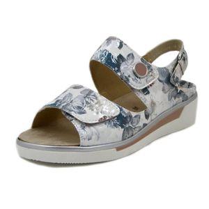 55949d00d8212f SANDALE - NU-PIEDS ARA, sandale confort pour femme, multicolores blan