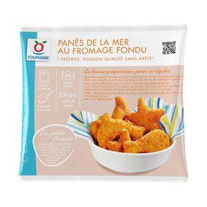 POISSON CUISINÉ Panés de la mer surgelés au fromage fondu - 500 g