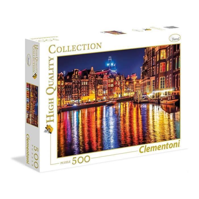 CLEMENTONI Amsterdam Puzzle 500 pièces. Mixte. Dès 14 ans - livré à l'unitéPUZZLE