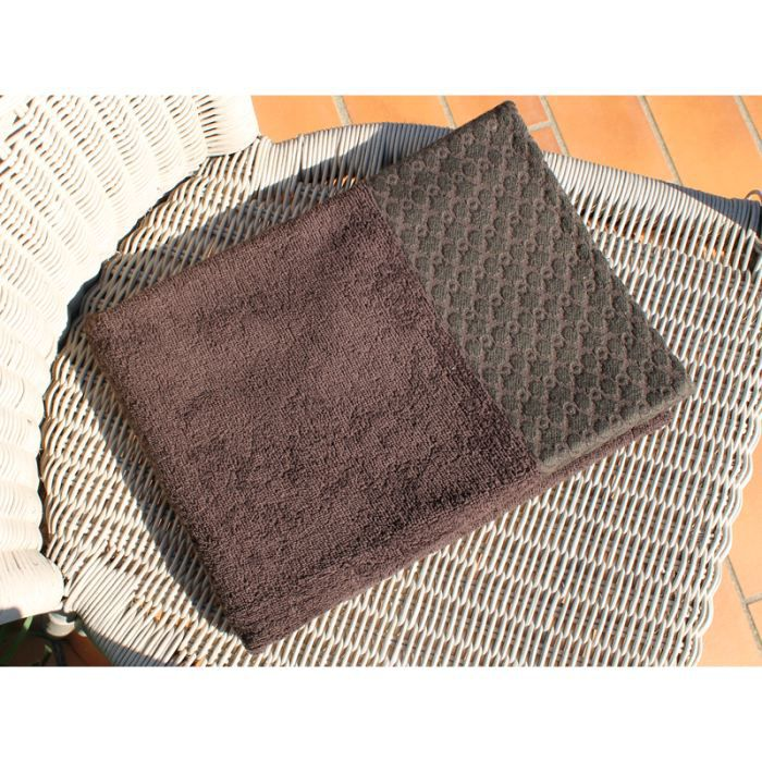 SOLEIL D'OCRE Drap de bain ANTIQUE - 100% coton - 70x130cm - CHOCOLAT