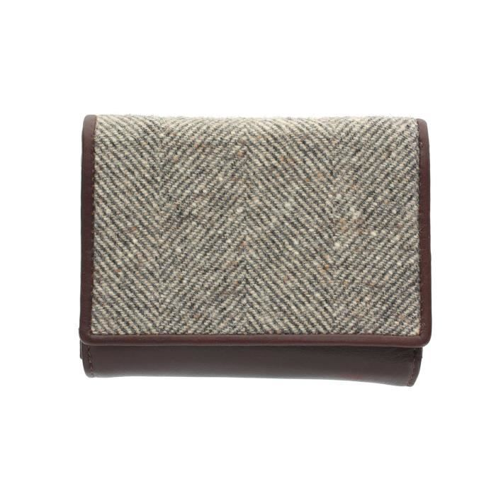 Abertweed Collection cuir et tweed trois section bourse 3212_40 UKUOD
