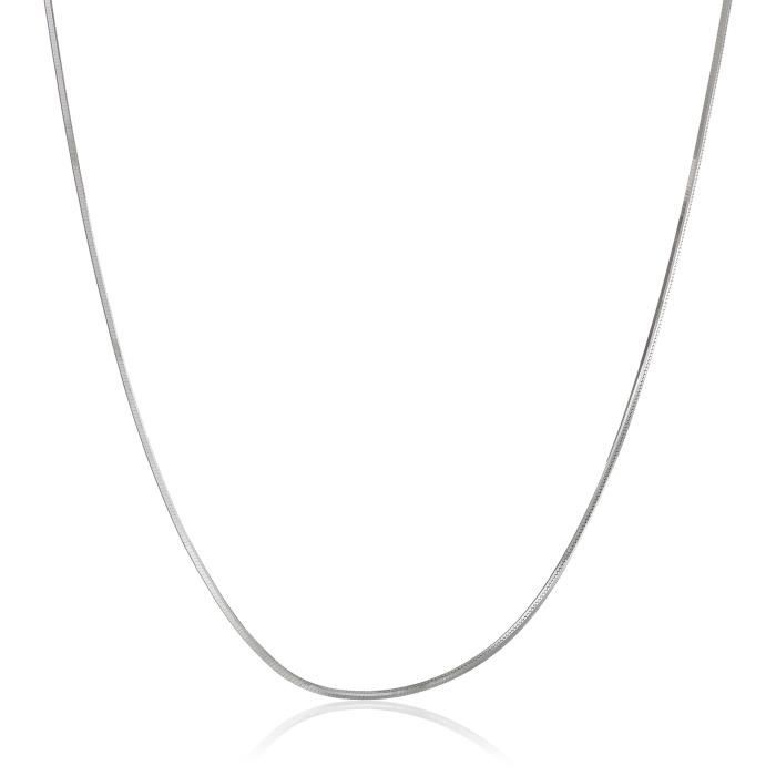 14k Gold Solid 8-sided Diamond-cut Snake Chain Necklace (.60mm) FJAAG