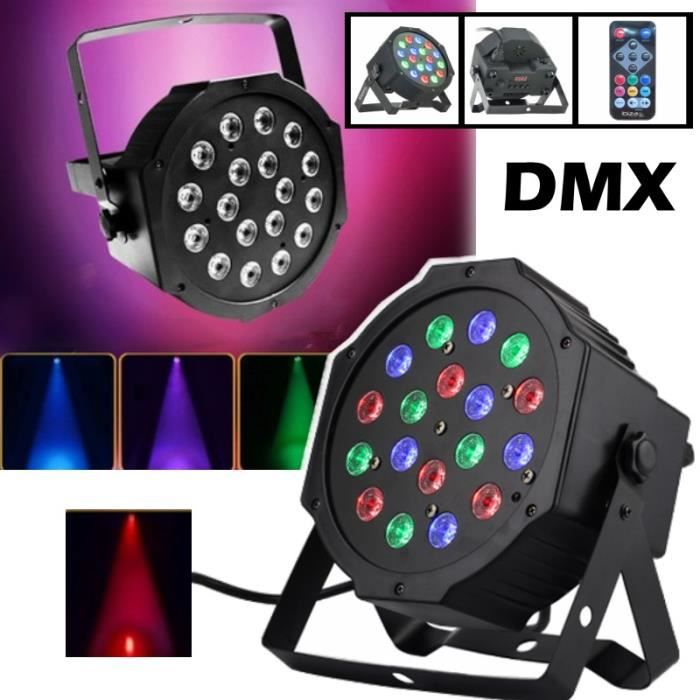 jeux de lumiere projecteur parled18x1w dmx rgb impressionnant pa dj led sono pack lumi re. Black Bedroom Furniture Sets. Home Design Ideas
